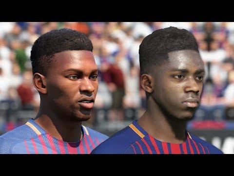 FIFA 18 vs PES 2018 FC Barcelona Face Comparison