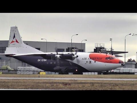 ANTONOV Air Armenia cargo - smoky take-off