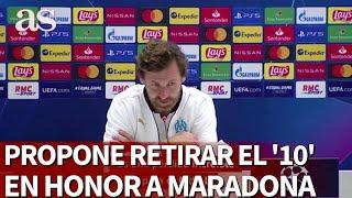 Maradona | Villas-Boas propone retirar el '10' del fútbol mundial |Diario As