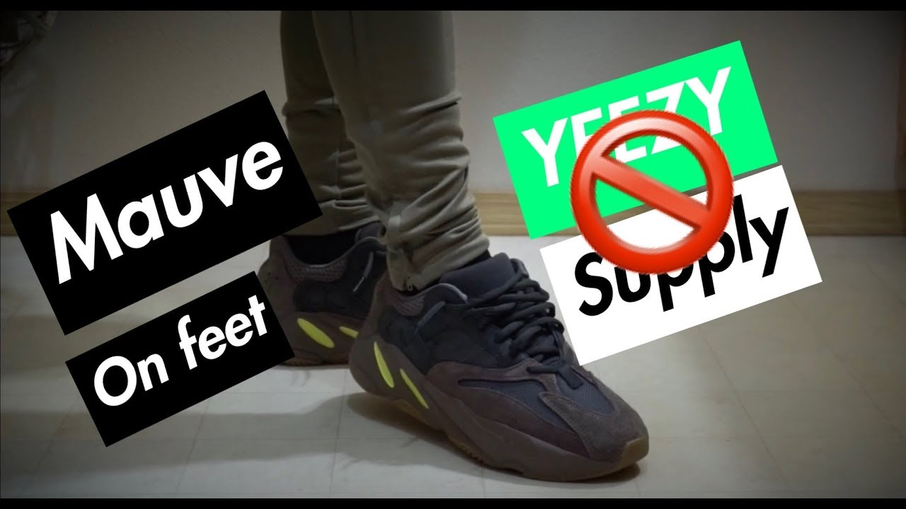 wholesale dealer 895e7 f7ab4 YEEZY SUPPLY RANT! AND YEEZY MAUVE 700 + ON FEET HONEST OPINION