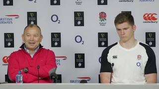 Press Conference: Eddie Jones and Owen Farrell on England 38-38 Scotland | Guinness Six Nations
