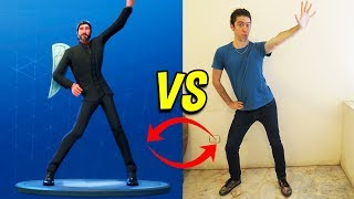 NEW BAILE OF FORTNITE VS REAL LIFE! (Leap to Fame) *BAILE NEW 2018*