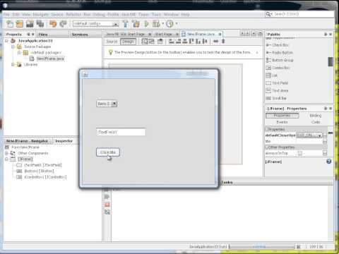 how to make and use a combo box in Java Netbeans