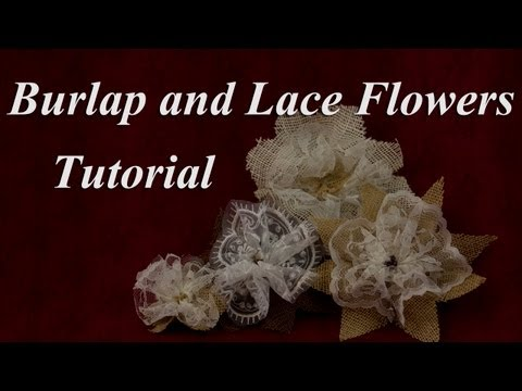 Ant Burlap And Lace Flower Tutorial