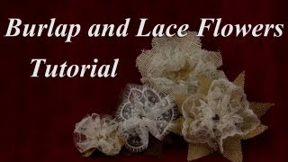 Elegant Burlap and Lace Flower Tutorial Thumbnail