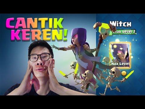 WITCH STAR LEVEL MAX KEREN PISAN, ADA EMAS-EMASNYA!! - Clash Royale Indonesia