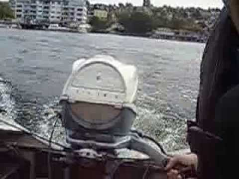 1946 Aero Craft JCC on Lake Union, Seattle with 40 Horsepower Evinrude Big Twin