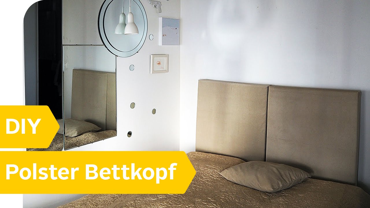 diy anleitung polster bettkopf selber machen roombeez powered by otto youtube. Black Bedroom Furniture Sets. Home Design Ideas