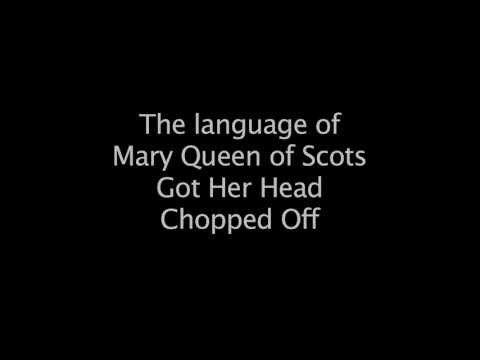 The language of Mary Queen of Scots Got Her Head Chopped Off - Emily Winter