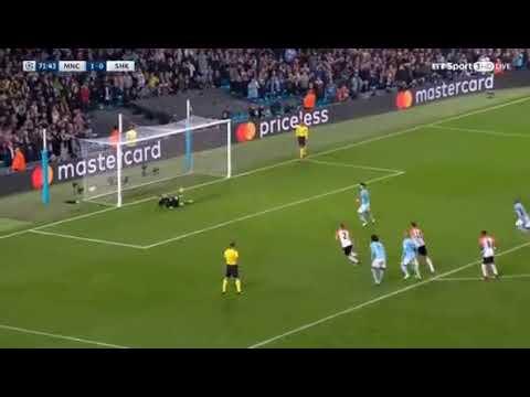 Sergio Aguero Penalty MISS Manchester City vs Shakhtar Donetsk - Champions League 2017