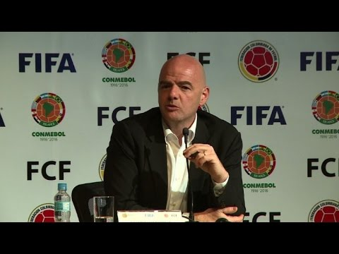 Infantino says FIFA not here to 'save the world'