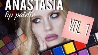 LIP PALETTE VOL. 1 REVIEW | ANASTASIA BEVERLY HILLS | THEBLONDEMANN