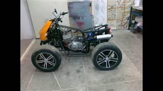 Самодельный квадроцикл на базе ИЖ Юпитер wmv