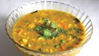 বঙল বয়বড়র ভজ ডলর সকরট রসপ - Bengali Biye Barir Mixed Vegetable Dal Recipe - Veg Dal