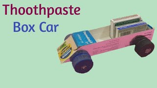 How To Make A Car | From Toothpaste Box | Best Out Of Waste | Toothpaste Box Craft