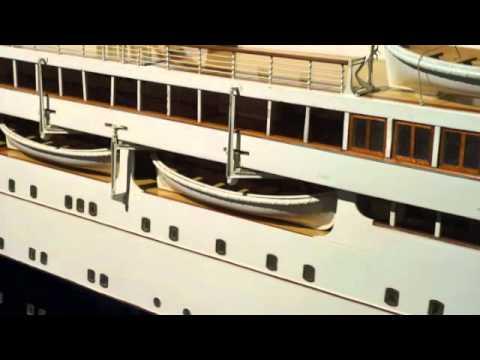 RMS Berengaria Cunard Line model at Merseyside Maritime Musuem Liverpool