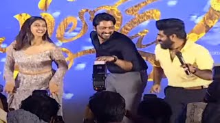 Bangaru Bullodu Movie Team Dance Performance For Swathilo Muthyamantha Song