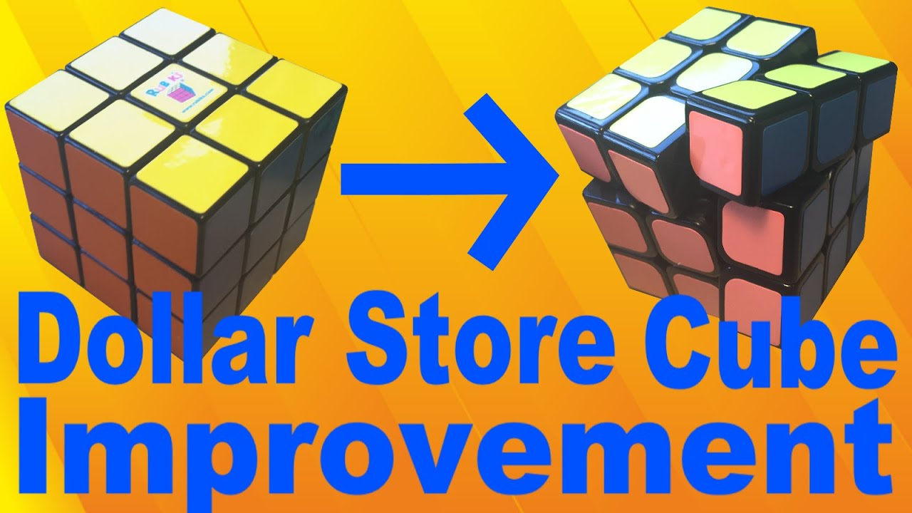How To Make An Old Dollar Store Rubik S Cube Awesome Youtube