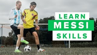 LEARN FIVE MESSI FOOTBALL SKILLS part 2 | How to play like Lionel Messi