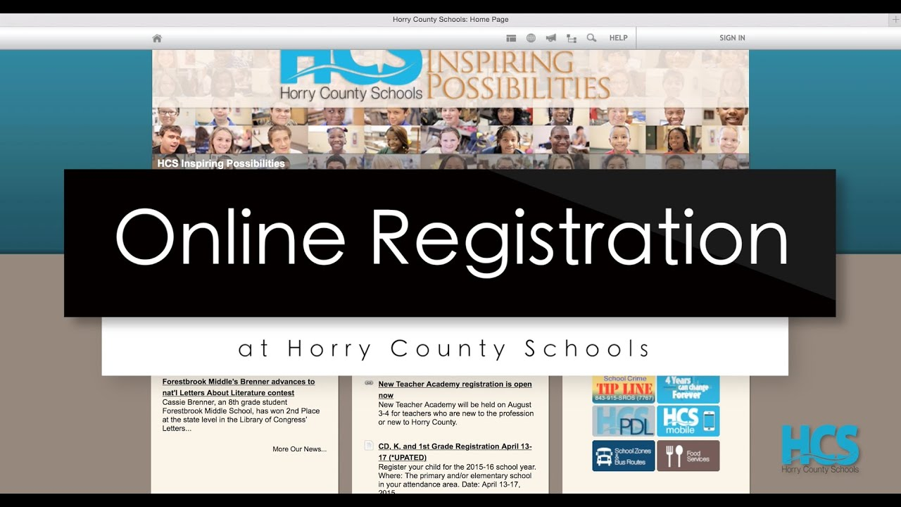 Online Registration at Horry County Schools - YouTube