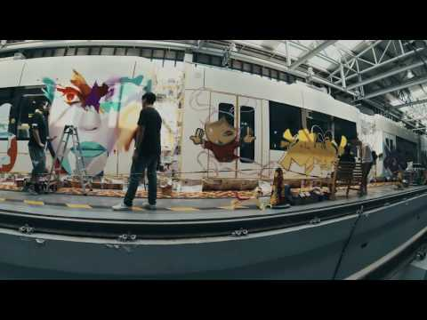 GuangZhou Tram Graffiti Project