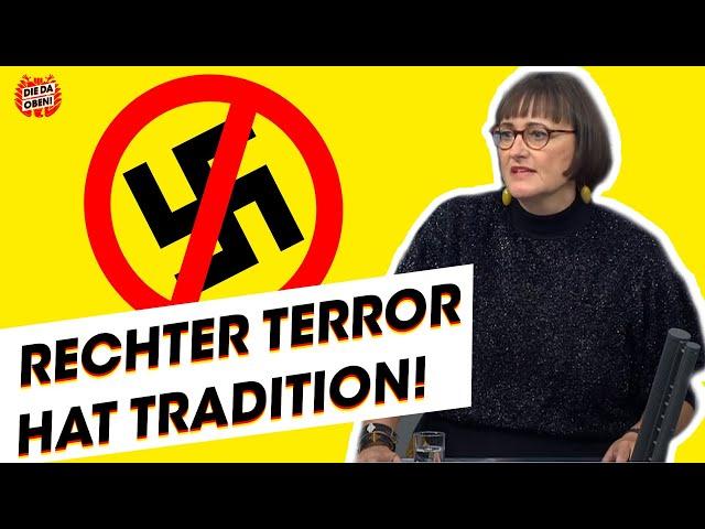 LINKE-Politikerin: Rechter Terror hat Tradition!