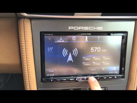 Alpine INE-W957HD Car Play Porsche 997 PCM Replacement Over View Demo