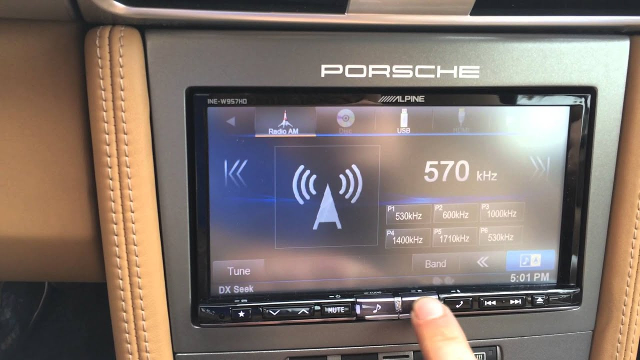 alpine ine whd car play porsche  pcm replacement  view demo youtube