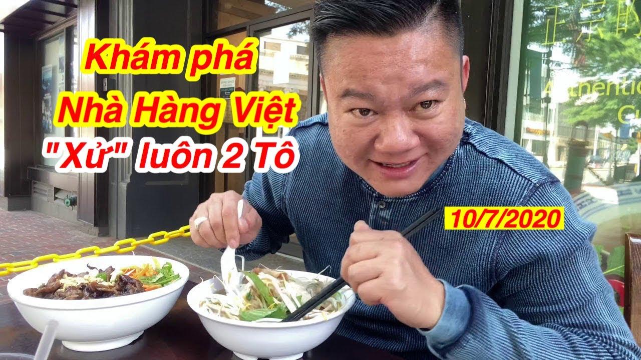 """Khám phá nhà hàng Việt ở Mỹ - 1 mình """"Chơi"""" luôn 2 TÔ kkk"""