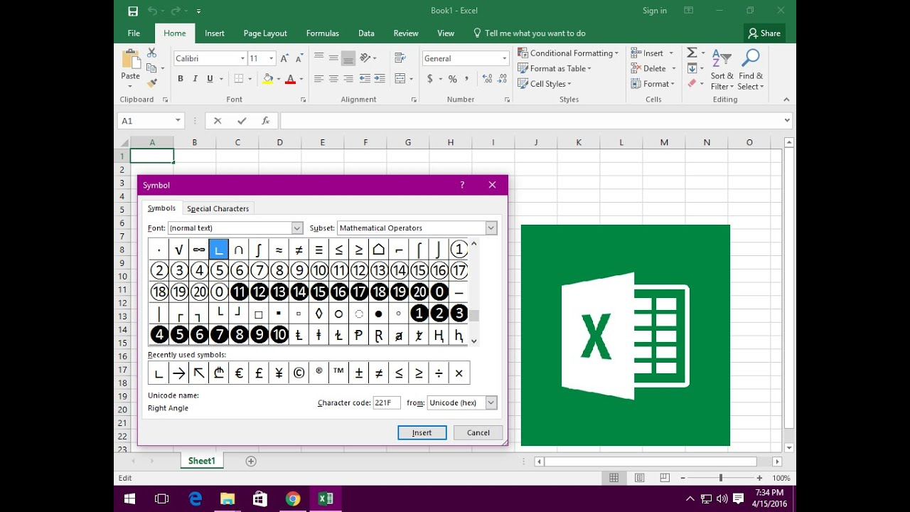Ms excel shortcut key to insert symbol youtube ms excel shortcut key to insert symbol buycottarizona Gallery