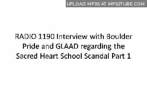 Radio 1190 interviews Boulder GLAAD and Pride about the Sacred Heart School Scandal Part 1