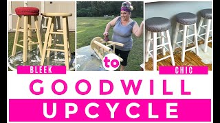 GOODWILL UPCYCLE   KITCHEN STOOLS