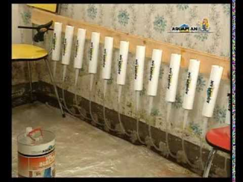 aquaplan murs injection youtube. Black Bedroom Furniture Sets. Home Design Ideas