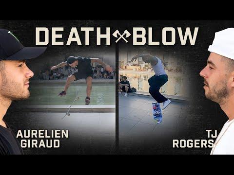 Aurelien Giraud's Hardflip Late Flip Vs. TJ Rogers's Switch BS 180 Late Flip | DEATH BLOW