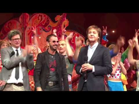 The Beatles Paul and Ringo at Cirque 10th anniversary