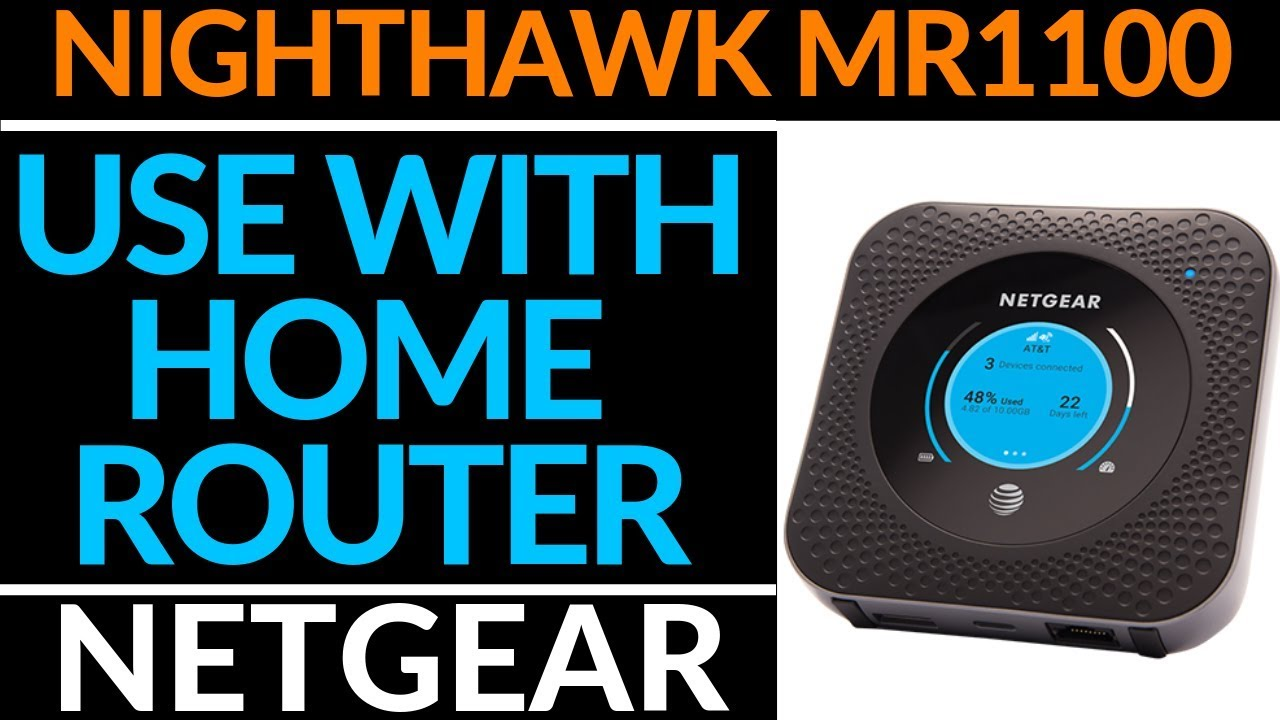 How to use the Netgear Nighthawk M1 MR1100 with a Router