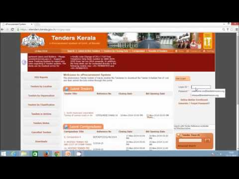 e-Procurement ::Tender creation 2 coverFor Department Users