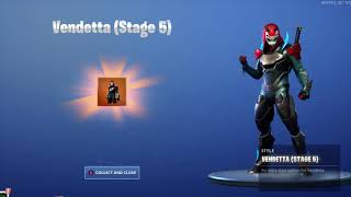 'NEW' UNLOCKING THE FINAL VENDETTA STAGE 5 Outfit on Fortnite Battle Royale Saison 9