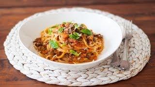 [Eng Sub] 番茄肉酱意面 Bolognese Linguine Recipe
