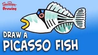 How to Draw a Picasso Fish -  Easy Like a Sunday Morning