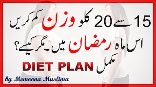 Ramadan Weight Loss Diet Plan & Tips 2017 Urdu Hindi
