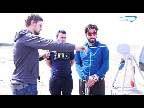 Paragliding payout towing instruction, training Albanian paragliding team