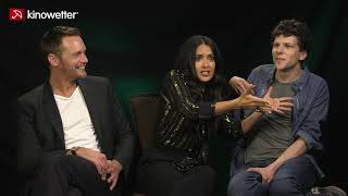 Interview Alexander Skarsgård, Salma Hayek und Jesse Eisenberg The Hummingbird Project