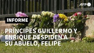 Príncipes Enrique y Guillermo rinden homenaje a su abuelo, el difunto duque de Edimburgo | AFP