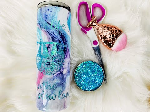 DIY Marble Glitter Peekaboo Tumbler