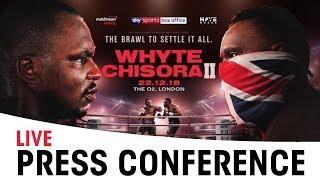Dillian Whyte vs Dereck Chisora 2 | Final Press Conference * LIVE *