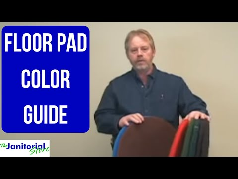 Floor Pads - Color Choices and Care