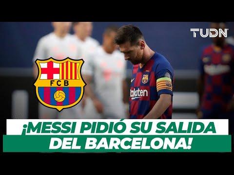 🚨¡Messi pide SALIR del Barcelona! Esto es todo lo que se sabe AL MOMENTO | TUDN
