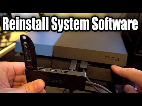 How To REINSTALL PS4 SYSTEM SOFTWARE (EASY METHOD)