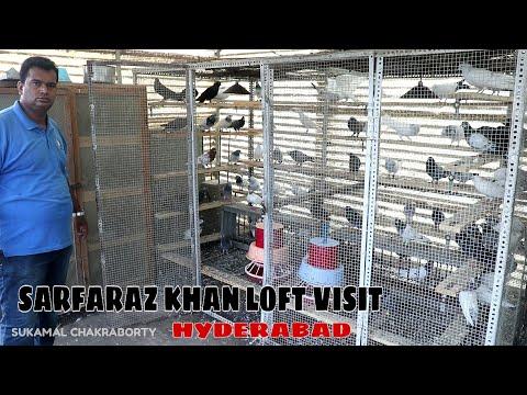 SARFARAZ KHAN PIGEON LOFT VISIT HYDERABAD PART1
